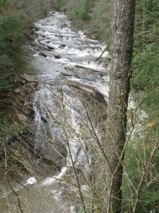 The Tumbling Waters Trail at Ridgeway Boat Ramp leads to this viewpoint of Tails Creek.