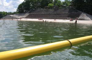 The Corps of Enginners' Harris Branch beach makes for a nice stop at mid-lake.