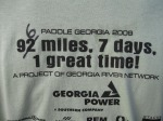 """After an unplanned excursion in the wrong direction on Carters Lake, Bonnie Putney """"corrected"""" her event T-shirt."""