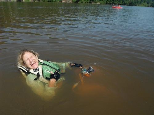 Anne Ledbetter soaks up the Altamaha.