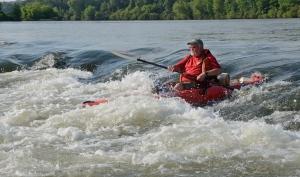Joe Kidd shoots through Daniel Shoals on the Chattahoochee River.
