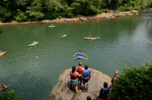 The Diving Rock in the Palisades Unit of the Chattahoochee River National Recreation Area.